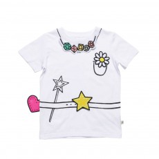 T-Shirt Patchs Repositionnables Fille Arlo Blanc