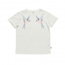 T-Shirt Oiseaux Lolly Blanc