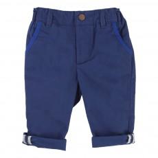 Pantalon Coton Bleu marine