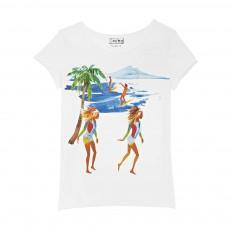 T-shirt Californie Blanc