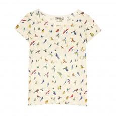 T-shirt Little Birds Blanc
