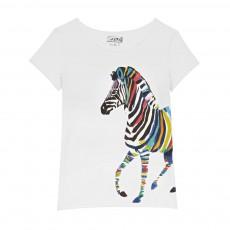 T-shirt Zèbre Blanc