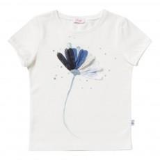 T-Shirt Fleur Blanc