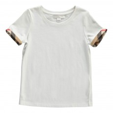 T-Shirt Détails Tartan Tulisa Blanc