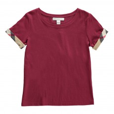 T-Shirt Détails Tartan Tulisa Bordeaux