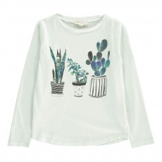 T-shirt Little Plants Vert d'eau