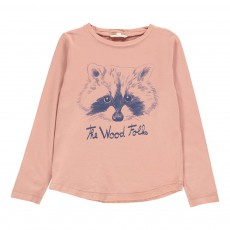 T-shirt The Wood Folks Vieux Rose