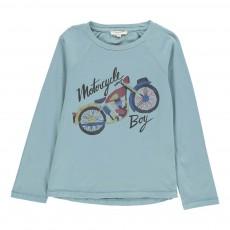 T-shirt Motorcycle Bleu gris