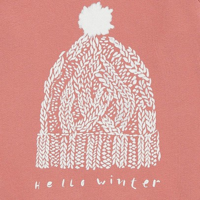 Sweat Hello Winter Rouge brique  Hundred Pieces