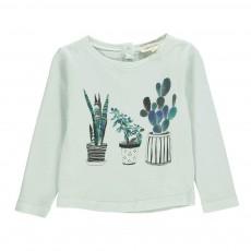 T-shirt Little Plants Bébé Vert d'eau