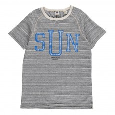 T-shirt Rayé Sun Set Gris chiné