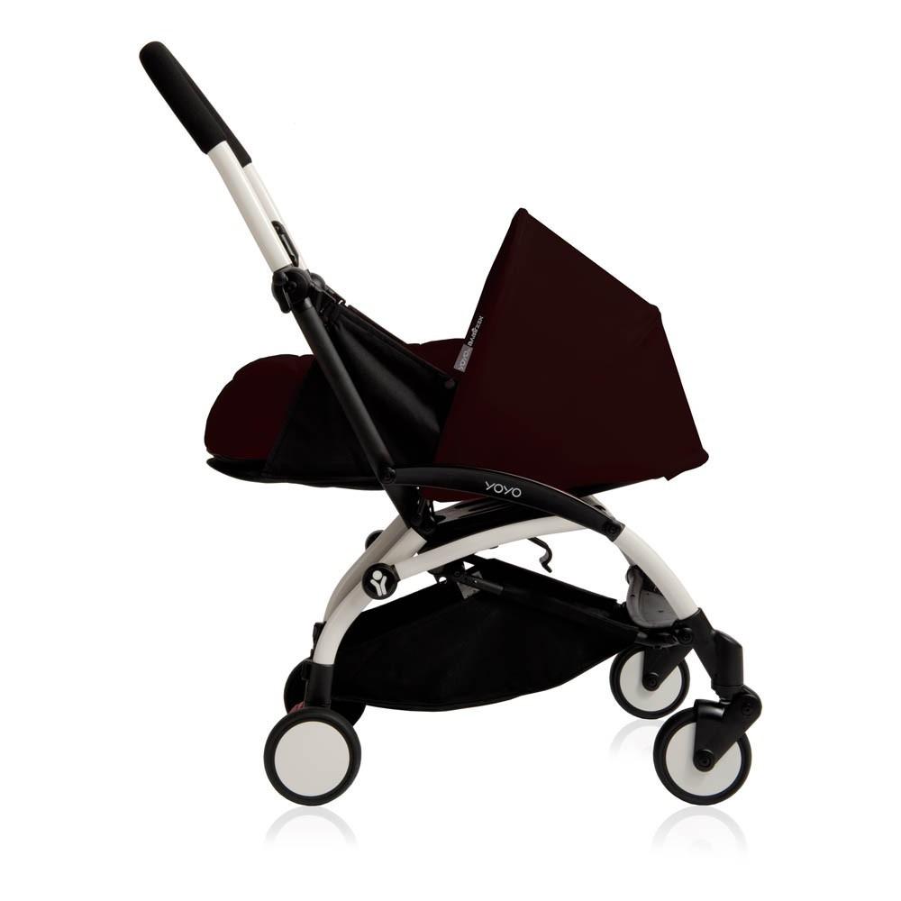 poussette compl te yoyo naissance 0 6 mois ch ssis blanc noir babyzen univers b b smallable. Black Bedroom Furniture Sets. Home Design Ideas