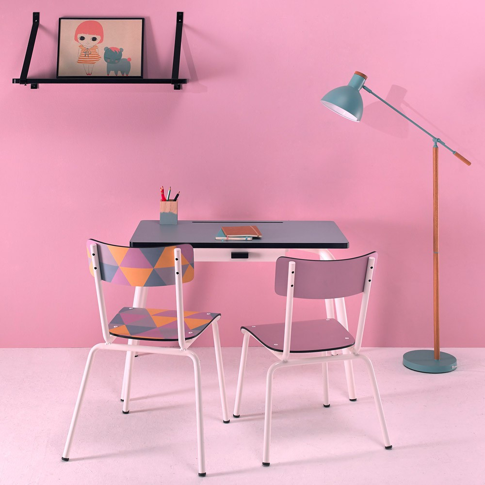 bureau l mentaire romy bleu jade les gambettes mobilier smallable. Black Bedroom Furniture Sets. Home Design Ideas