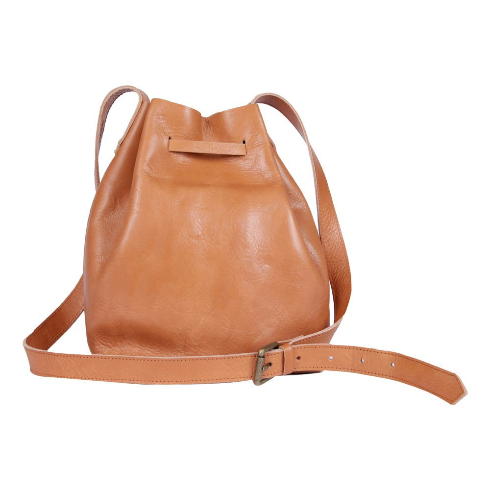 chloe purse - Polder N.Y. Leather Bucket Bag Camel - Teen Fashion - Smallable
