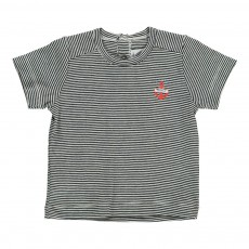 T-shirt Rayé Boon Bleu marine