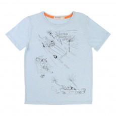T-Shirt Voiture Plage Bleu pâle