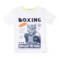 T-Shirt Tigre Boxeur Blanc