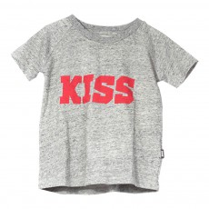 T-shirt Coton Bio KISS - Made in Portugal Gris