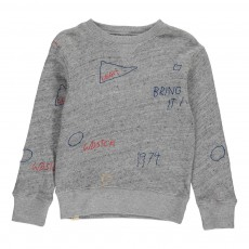 Sweat Broderies Akne Gris chiné