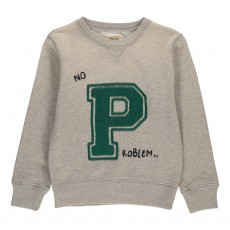 "Sweat ""P"" Akne Gris chiné"