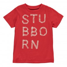 "T-Shirt ""Stubborn"" Cats Rouge vermillon"