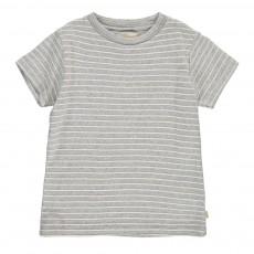 T-Shirt Rayé Foul Gris chiné