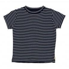 T-Shirt Rayé Foul Bleu marine
