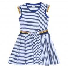 Robe Rayée Wink Bleu marine