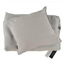 Parure de lit en jersey Gris clair