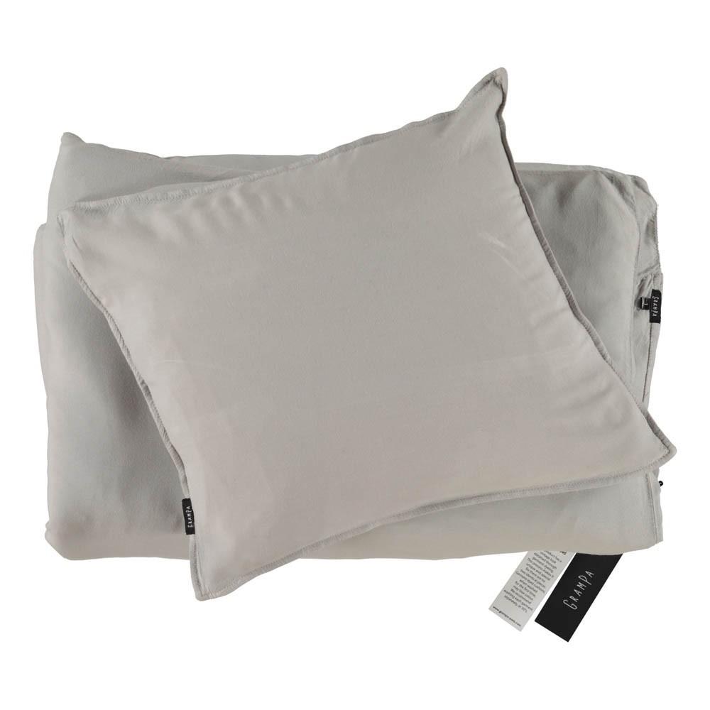 parure de lit en jersey gris clair grampa d coration smallable. Black Bedroom Furniture Sets. Home Design Ideas