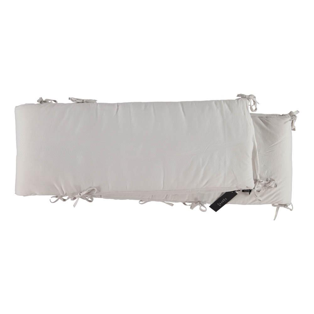 tour de lit complet en jersey cr me grampa univers b b smallable. Black Bedroom Furniture Sets. Home Design Ideas