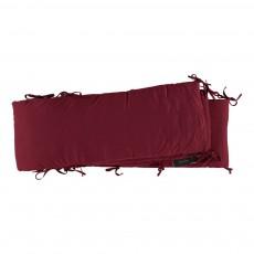 Tour de lit en jersey Bordeaux