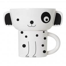 Set bol et tasse chien Blanc