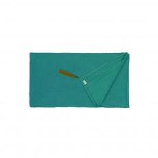 Foulard Paréo Pompons 110*190  - Collection Ado et Femme - Bleu turquoise