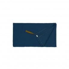 Foulard Paréo Pompons 110*190  - Collection Ado et Femme - Bleu marine