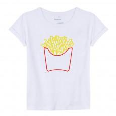 T-shirt Cornet De Frites Blanc