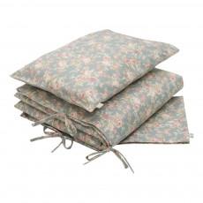 Parure de lit imprimée Fleurs Vert amande