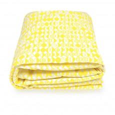 Matelas de sol en canvas de coton 100x100 cm Jaune
