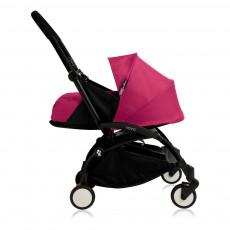 Poussette complète new Yoyo  naissance 0-6 mois, châssis noir Rose