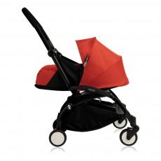 Poussette complète new Yoyo  naissance 0-6 mois, châssis noir Rouge