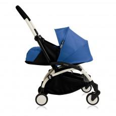 Poussette complète new Yoyo  naissance 0-6 mois, châssis blanc Bleu