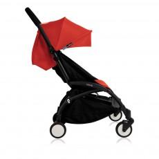 Poussette complète new Yoyo  junior 6 mois-5 ans, châssis noir Rouge