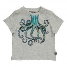 T-Shirt Pieuvre Chuckle Gris chiné
