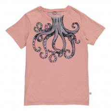 T-Shirt Pieuvre Chuckle Rose