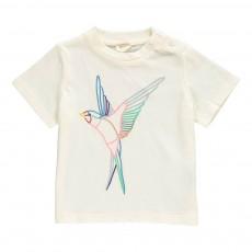 T-Shirt Oiseau Chuckle Blanc cassé