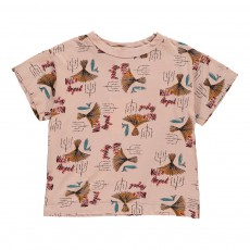 T-Shirt Paille Rooster Rose