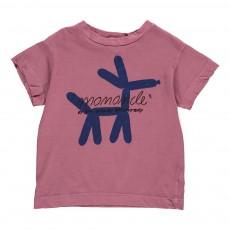 T-Shirt Chien Rooster Mauve