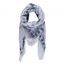 Foulard Fleurs Bleu