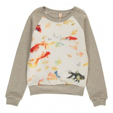 Sweat Poissons Anzy Gris chiné