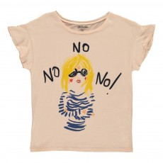 """T-Shirt """"No"""" Clak Rose pâle"""